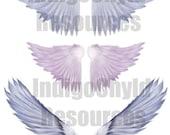 Angel Wings Digital Collage Sheet JPG