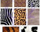 Animal Print Digital Collage Sheet JPG