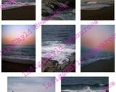 Beach Sunset ATC Digital Background Sheet JPG