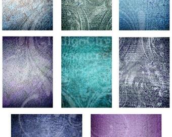 ATC ACEO Digital Collage Sheet Grunge 4 JPG