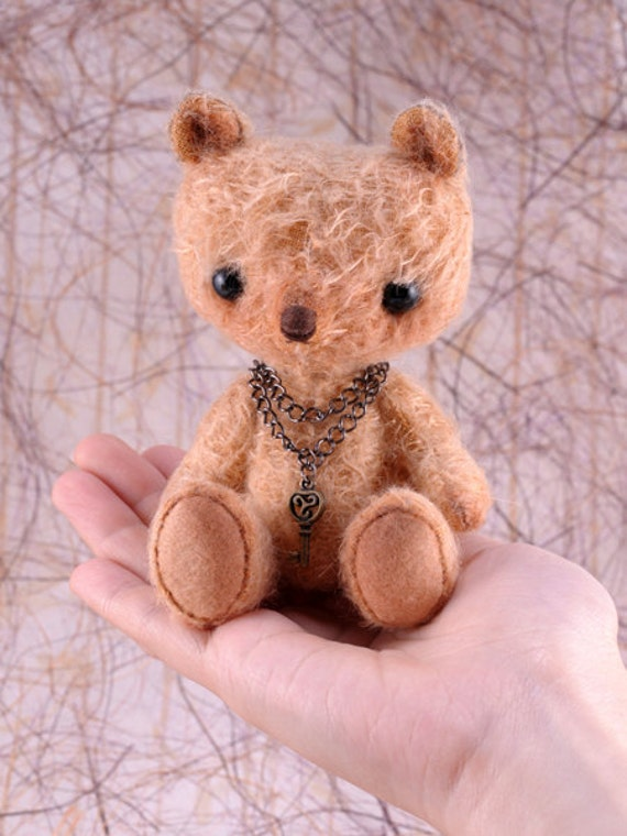 FREE SHIPPING - Miko, a OOAK Jointed Mohair Anime Bear