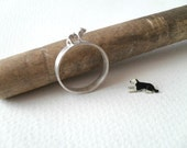 AUTUMN SALE -Dog ring -Sterling silver ring -Animal Jewelry -Gift for her