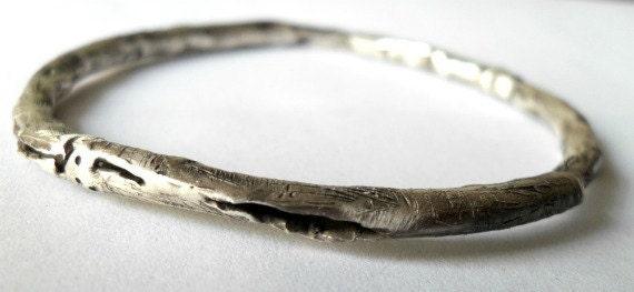 RESERVED for Bing-Sillver bracelet-Oxidised -