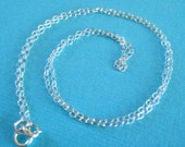 RESERVED FOR Luvcupcakes - 18 Inch 1.5mm Fine Sterling Silver Cable Chain Necklace