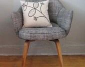 Throw Pillow - Natural Canvas with Honeysuckle print