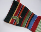 Recycled Wool Felt Christmas Stocking