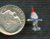 Micro Miniature Gnome - 1/144th scale figure or 1/12th scale ornament