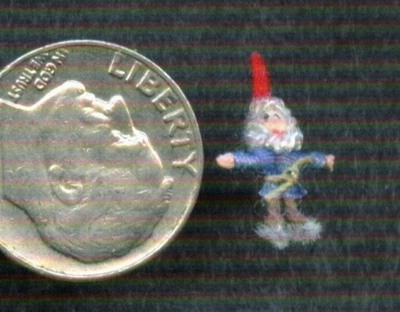 Micro Miniature Gnome - 1\/144th scale figure or 1\/12th scale ornament