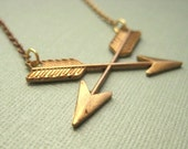 Simply charming - vintage arrow necklace