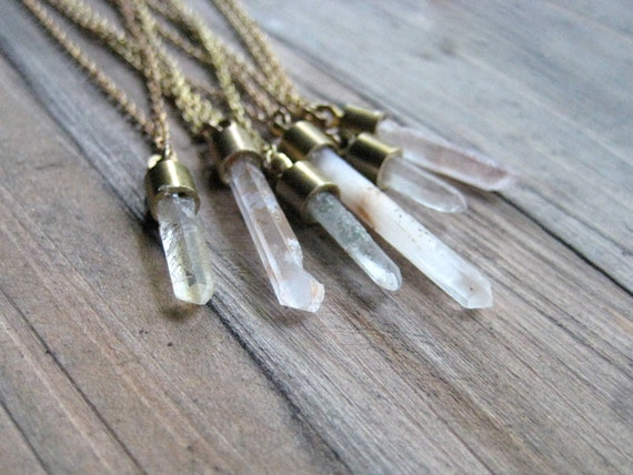 Mini Crystal necklace for layering - No 12