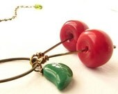 Happy Go Lucky - vintage cherry beads- limited edition- a great gift