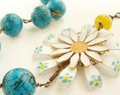 Belle Nouveau - vintage repurposed one of a kind necklace