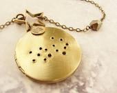 Virgo constellation necklace Virgo necklace locket August September birthday zodiac sign 12 zodiac constellation long necklace