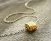gold tablet necklace, bridesmaid gifts, gold square necklace, wedding party gifts, everyday delicate dainty necklace