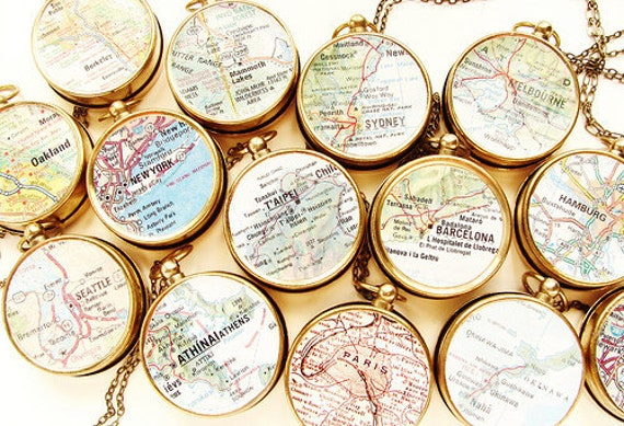 Custom map jewelry, map compass necklace, custom graduation gift necklace, Personalized Jewelry, Custom Map Necklace for the graduate