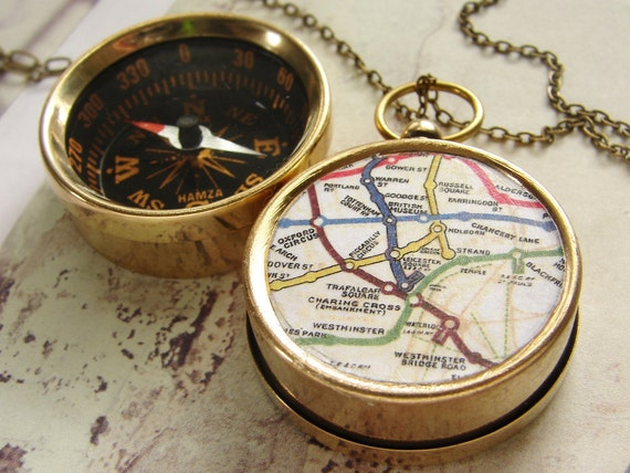 London tube Map Compass keychain, Personalized gift Personalized keychain Underground map, customized anniversary gifts