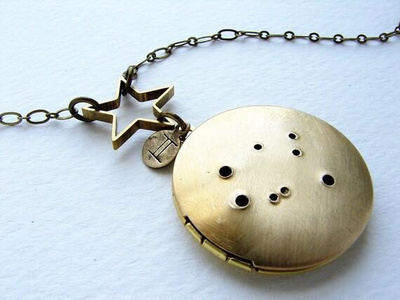 Personalized jewelry, zodiac constellation necklace, Personalized zodiac, Gemini constellation locket, May June birthday zodiac necklace