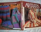 Vintage Hardback Knit and Crochet book titled All-time Great Afghans