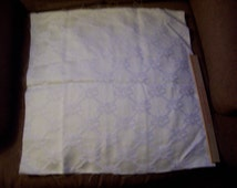 """Set of 4 Vintage White upholstery fabric panels measuring 18"""" square"""