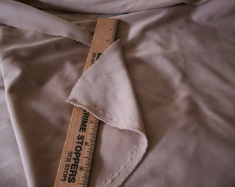 "Vintage Polyester fabric in Light brown/Dark tan - 67"" length x 64"" width"