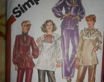 Vintage SImplicity pattern 5326 - Misses size 18 to 20 - Pull-over Tunic and Pull up pants