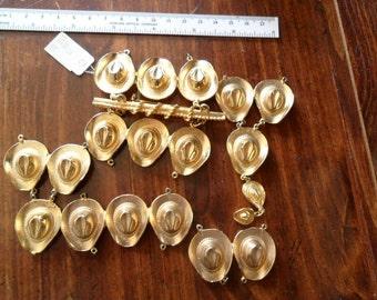 Destash Findings - 19 Metal Goldtone Cowboy for crafting