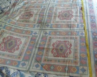 "Southwest pattern pillow panel fabric - 6 squares measuring 17 1/2"" x 18 1/2"" each"