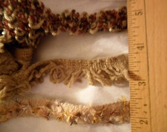 Assorted trims by Style-a-bility in earthtone colors. 3 yds - 1 yard each