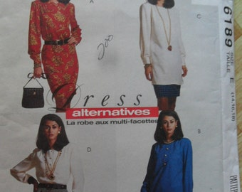 McCall's Pattern 6189 - Ladies Tunic, Dress, Blouse and skirt -sizes 14 thru 18 UnCut