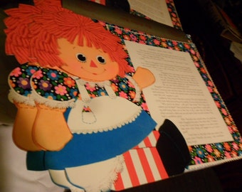 Vintage or Antique Raggedy Ann's First Party Placemats x 5