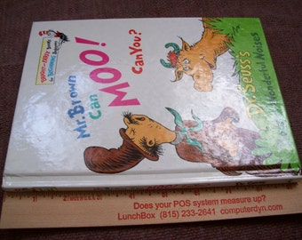 Vintage 1970 Dr Seuss Book Mr Brown Can Moo Can You - Hardback Children's book