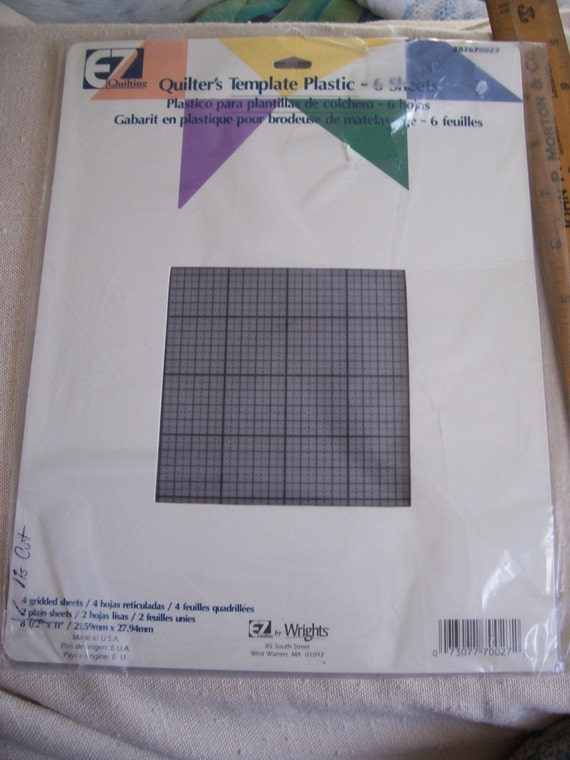 Wrights EZ Quilting Quilter s Template Plastic Gridded
