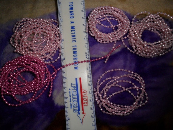 13 Groups of Craft Beads - Assorted Strands/Yards and COLORS of Tiny Round pearl craft beads