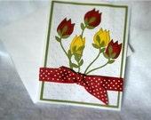 Intricate Handmade Flowers Card