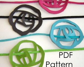 Rose Choker - NO SEW PDF PATTERN