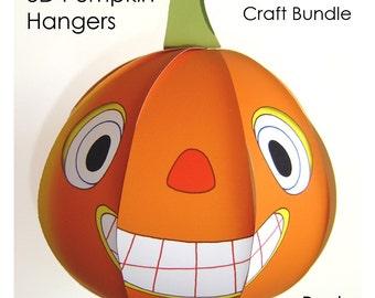 Halloween Pumpkin - Halloween Party Decor, 3D Papercraft, Downloadable Craft Party, Jack-O-Lantern