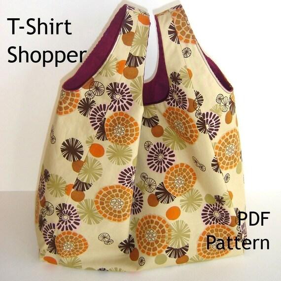 REVERSIBLE T-SHIRT SHOPPER - PDF Bag Pattern