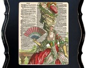 Vintage Book Print Vintage Upcycled Dictionary Print Of An Antique Engraving Of Marie Antoinette