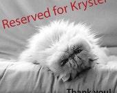 Reserved for Krystel