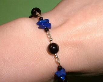 Lapis and Onyx Bracelet