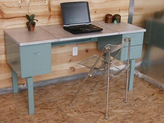 Vintage Aluminum Folding Desk