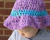ON SALE Sun Hat (12 to 24 mo) -- Lavender Bouquet