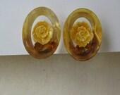 Yellow Flower - earrings