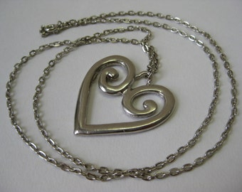 Silver Heart - necklace