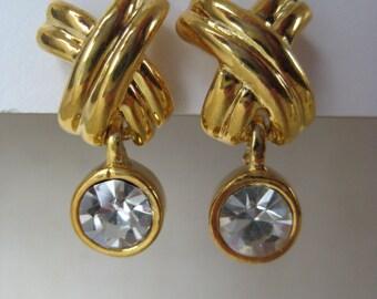 X Dangle Sparkle - earrings