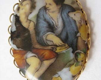 Two Boys - brooch