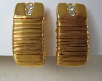 Wrapped Golden - earrings
