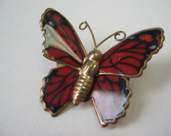 Red and Black Butterfly - pin