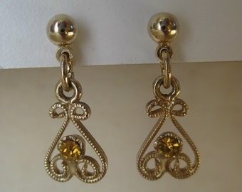 Gold and Yellow Twinkle - earrings