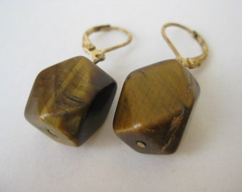 Tiger Eye Dangle - earrings